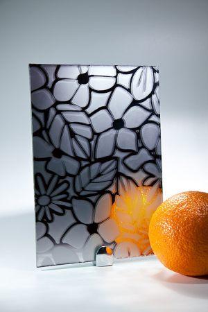 "Зеркало ""Цветы"" графит Калуга"