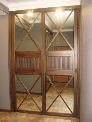 Шкаф купе шпонированный с делитель наклейками Калуга