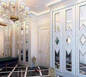 Двери с делителем наклейкой Калуга