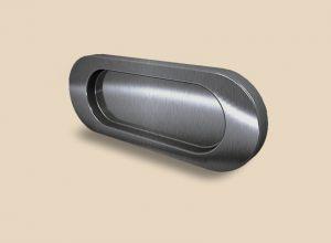 Ручка серебро глянец овальная Италия Калуга