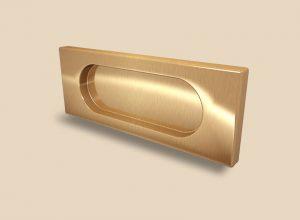 Ручка Золото глянец прямоугольная Италия Калуга