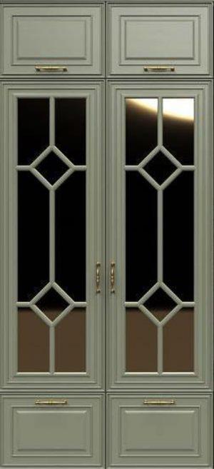 Фасад с фигурной филенкой эмаль Калуга