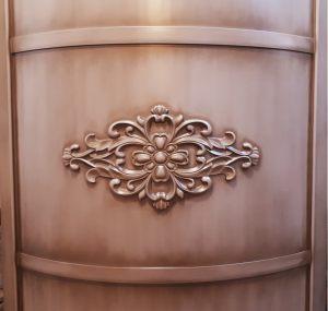 Вставка радиусная с декоративной накладкой эмаль с патиной Калуга