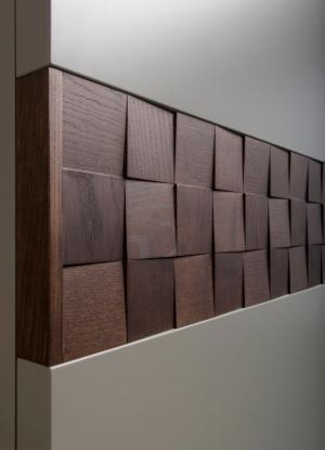 Вставка в двери с накладными квадратами шпон Калуга